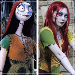 ellie moonjelly as sally nightmare before christmas ellie loves cosplay - Sally Nightmare Before Christmas Wig